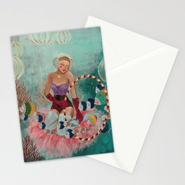 Underwater Circus - Violet and the Clownfish Stationery Cards