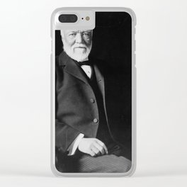 Andrew Carnegie Clear iPhone Case