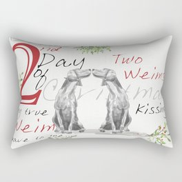 SECOND DAY OF CHRISTMAS WEIMS Rectangular Pillow