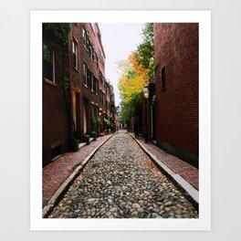 Acorn Street, Boston Art Print