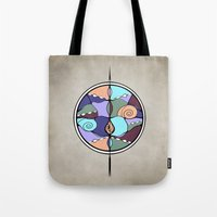 compass Tote Bags featuring Compass by DebS Digs Photo Art