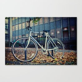 Locked bike Canvas Print