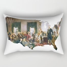 USA MAP The Signing of the Constitution of the United States Rectangular Pillow
