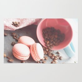Sweet cakes with coffeebeans in a cup Rug