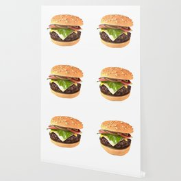 Hamburger 3D Render Wallpaper