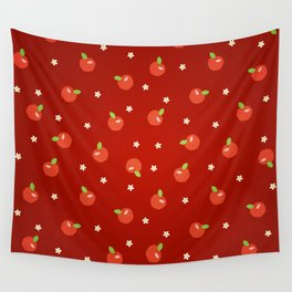 apples and flowers Wall Tapestry