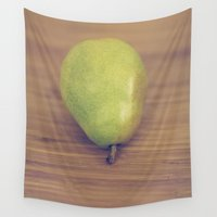 pear Wall Tapestries featuring Pear by Jessica Torres Photography