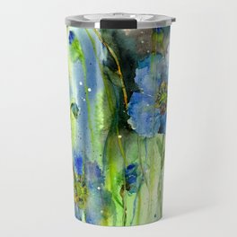 Blue Anemone Flowers Travel Mug