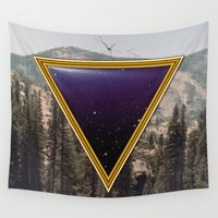 frame Wall Tapestries featuring Space Frame by Grafiskanstalt