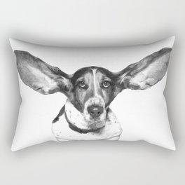Black and White Dog Ears Rectangular Pillow