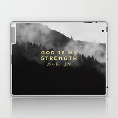 GOD IS MY STRENGTH Laptop & iPad Skin