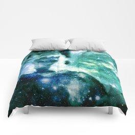 Blue Teal Celestial Angel Comforters