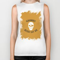 the goonies Biker Tanks featuring Goonies Never Say Die by Christina