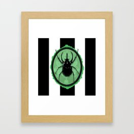 Juicy Beetle GREEN Framed Art Print