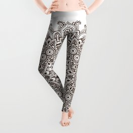 Mandala Bohemian Embellishments Medallion Leggings