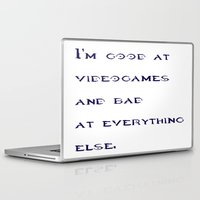 gamer Laptop & iPad Skins featuring Gamer by Vi91
