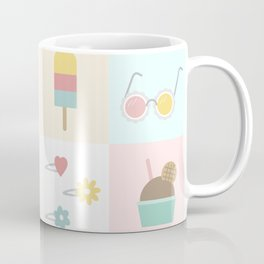 Cute Pastel Summer Pattern Coffee Mug