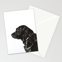 Black Lab Print Stationery Cards