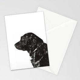 Black Lab Print Stationery Cards