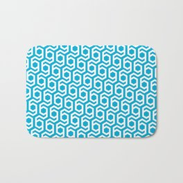 Modern Hive Geometric Repeat Pattern Bath Mat