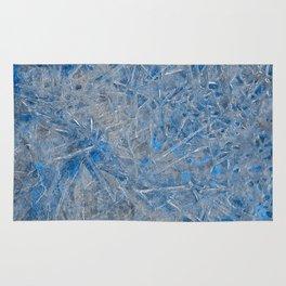 Blue Ice Texture Rug