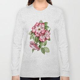 Blooming Pink Garden Roses Long Sleeve T-shirt