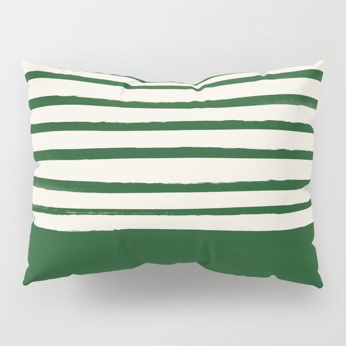 Holiday x Green Stripes Pillow Sham
