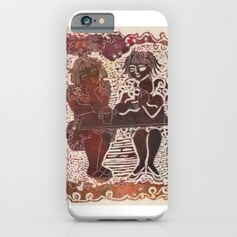 Coffee chat (untitled) iPhone Case
