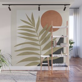 Tropical Leaf- Abstract Art 9 Wall Mural