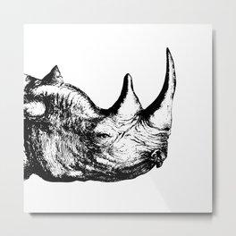 Rhino Metal Print