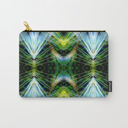 Blue Green Bright Rays,Fractal Art Carry-All Pouch