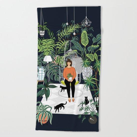 dark room print Beach Towel