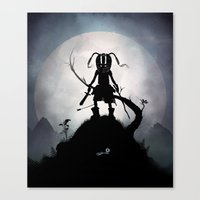 skyrim Canvas Prints featuring Skyrim Kid by Andy Fairhurst Art