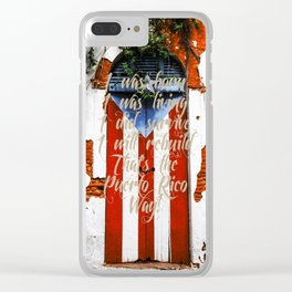 Words for Puerto Rico Clear iPhone Case