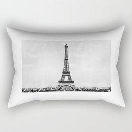 Eiffel tower, Paris France in black and white with painterly effect Rectangular Pillow