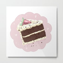 Chocolate Cake Metal Print