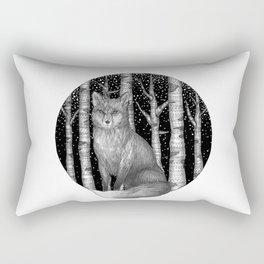Fox and Forest Rectangular Pillow
