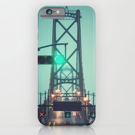 Green Light Bridge iPhone Case