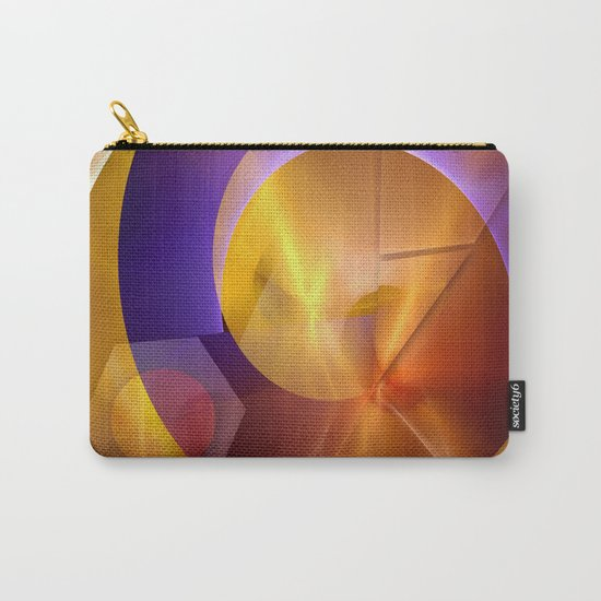 Modern abstract with a golden glow Carry-All Pouch