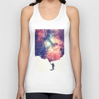 galaxy Tank Tops featuring Painting the universe by badbugs_art