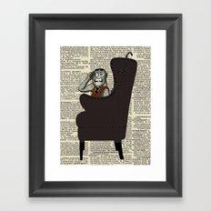 Detective Monkey Framed Art Print