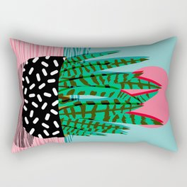 Edgy - wacka potted indoor house plant hipster retro throwback minimal 1980s 80s neon pop art Rectangular Pillow