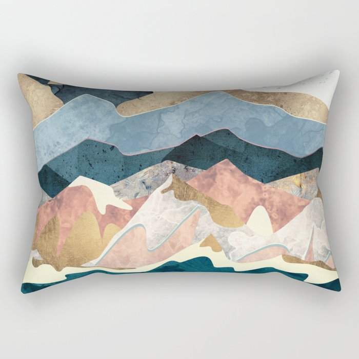 Golden Peaks Rectangular Pillow