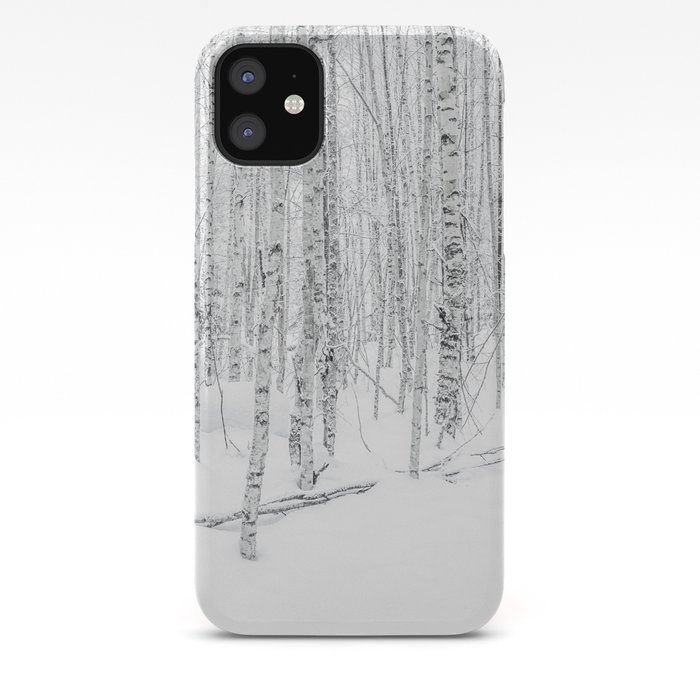 In the Birch Trees iPhone 11 case