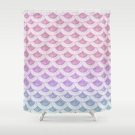Unicorn Pastel Mermaid Scales #1 #pastel #decor #art #society6 Shower Curtain