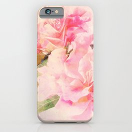 douces fleurs roses iPhone Case