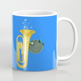 Puffer Fish Playing Tuba Coffee Mug