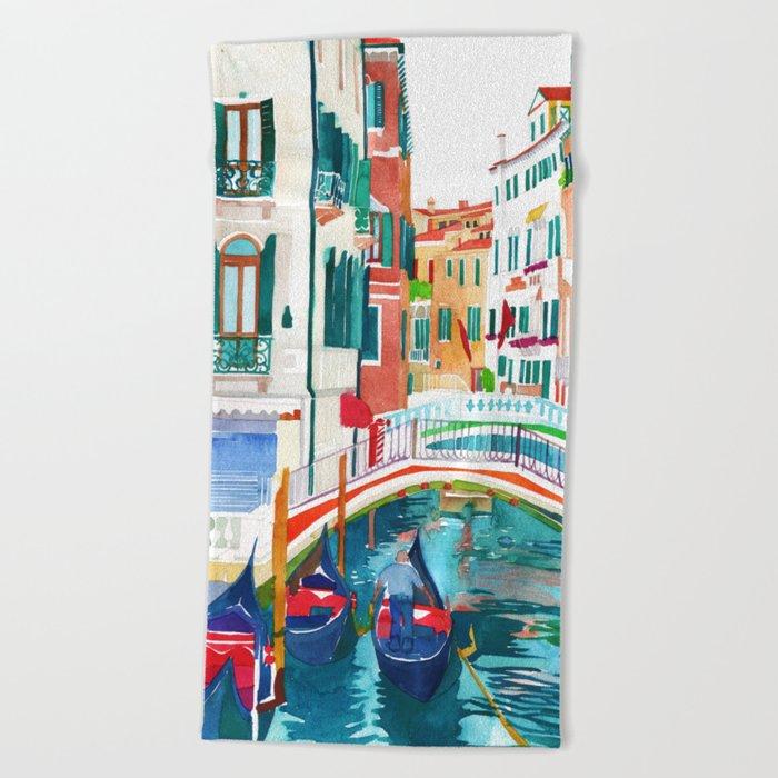 Canal in Venice Beach Towel