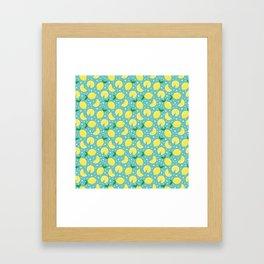 Juicy lemon pattern Framed Art Print