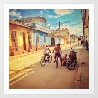 cuba Art Prints featuring Cuba by Anna Andretta